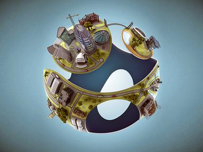 CSC's 3D Logo Globe