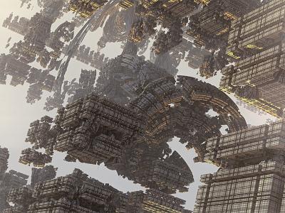 Ruins: Part I mandelbulb mandelbulb 3d 3d fractal 3d alien technology ruin fractals
