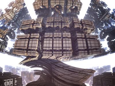 Ruins: Part II fractals ruin technology alien 3d 3d fractal mandelbulb 3d mandelbulb