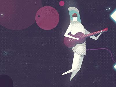 Sad Astronaut singing music acoustic planets space spaceman guitar astronaut