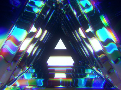 A is for Aberration c4d cinema 4d 3d 36days-a 36daysoftype alphabet chromatic aberration