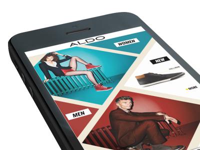 Aldo Shoes App Concept iphone app ui aldo shoes