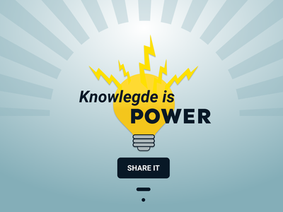 Knowledge is power. Share it. challenge graphic design designchallenge thinkific challenge knowledge is power