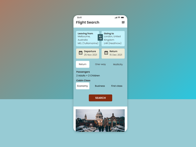 Daily UI :: 068 (Flight Search) flightsearch ux ui uidesign dailyui dailyuichallenge daily100challenge