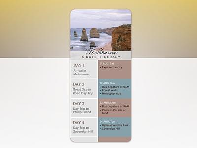 Daily UI :: 079 (Itinerary) itinerary travelitinerary ux ui uidesign dailyuichallenge dailyui daily100challenge