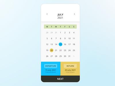 Daily UI :: 080 (Date Picker) datepicker ux ui uidesign dailyuichallenge dailyui daily100challenge