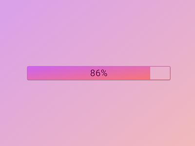 Daily UI :: 086 (Progress Bar) progressbar ui ux uidesign dailyui dailyuichallenge daily100challenge