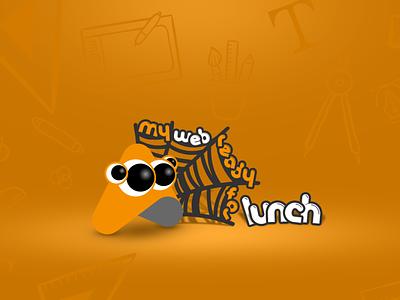 My web ready for lunch animation vector design web branding logo illustration spider