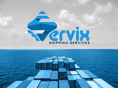 Servix | Branding map sky import export transportation design corporate flat design plane sea logoinspiration shipping gif animation logo illustration branding