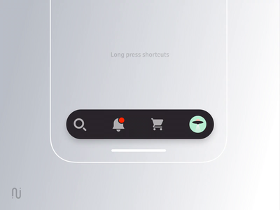 Tabbar long press shortcuts creative sketch ae interaction clean orders profile avatar shortcut experience ios tabbar concept mobile ux ui