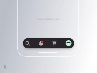 Tabbar long press shortcuts creative sketch ae interaction clean orders profile avatar shortcut experience ios tabbar concept mobile ux ui