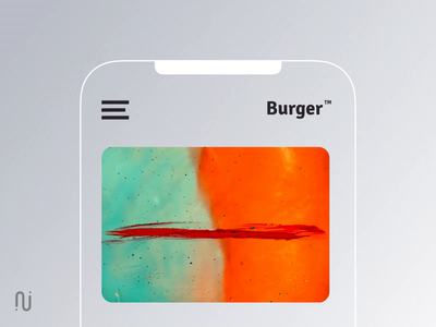 Don't throw the burger piece v2 ae gif app concept android ios burger menu close menu mobile ux ui
