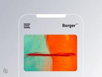 Don't throw the burger piece v2 ae gif app concept android ios burger menu close menu mobile ux ui