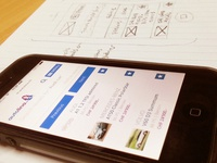 Mobile website wireframing