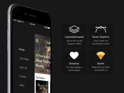 UISKET - A new mobile UiKit for Sketch app