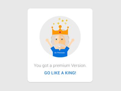 Premium like a king! version premium ux ui character illustration flat