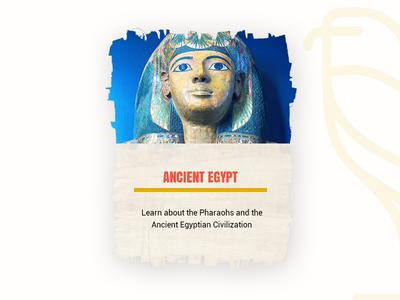 Egyptian bardy card tourism bardy mobile web card pharaoh ancient egypt ux ui