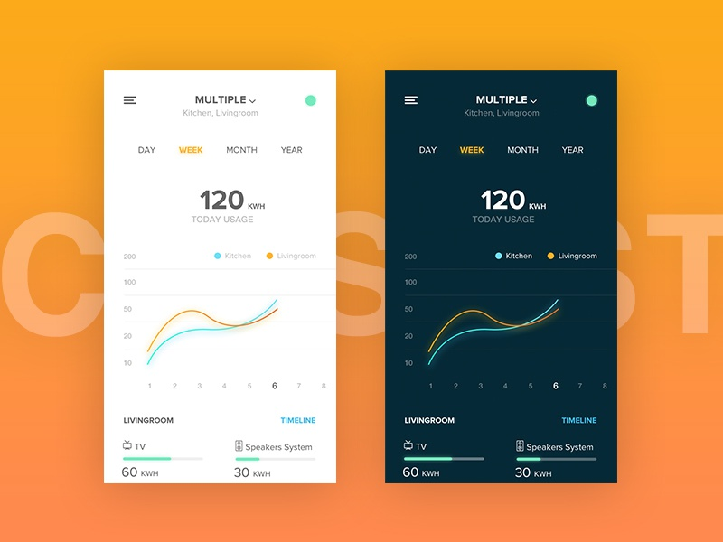 Smart Home App track tracker chart appliance mobile power system eco home smart ux ui