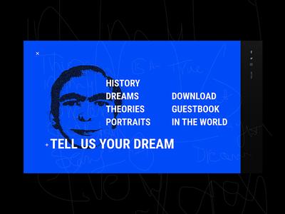 Ever dream this man - Navigation nav slides web redesign psycho guy man dream dark ux ui