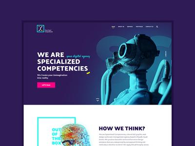 SC services agency website design landing interaction ux ui web design