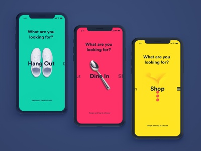 Swipe Concept flat sketch ios principle colorful design swipe app mobile ux ui