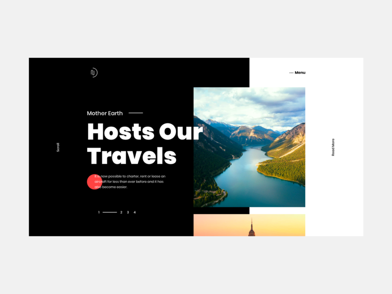 Mother Earth Hosts our Travels travel mountain natural flat ux ui web design