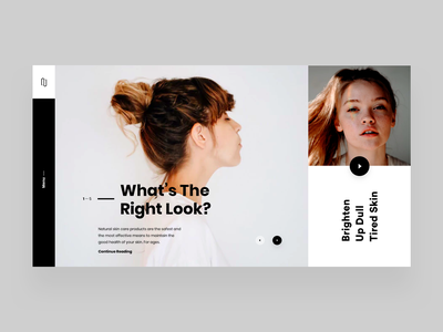 What's The Right Look? box grid female beauty design flat ux ui web