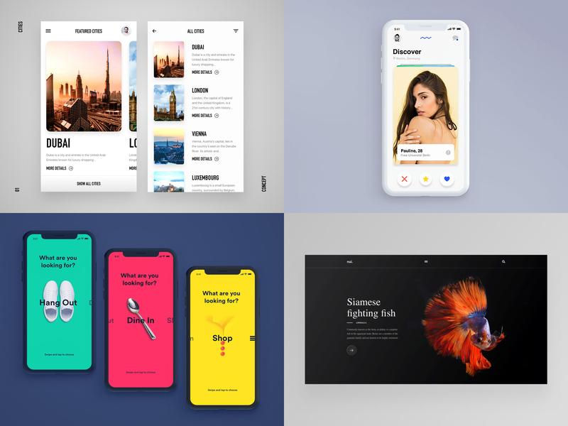 Top4Shots 2018 ae landing sketch webdesign interaction dark ios flat app web mobile ux ui