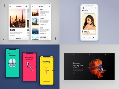 Top4Shots 2018 ae landing sketch webdesign interaction dark ios flat app web mobile ux ui