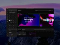 Principle for mac redesign timeline frames tool animation dark principle design app ux ui