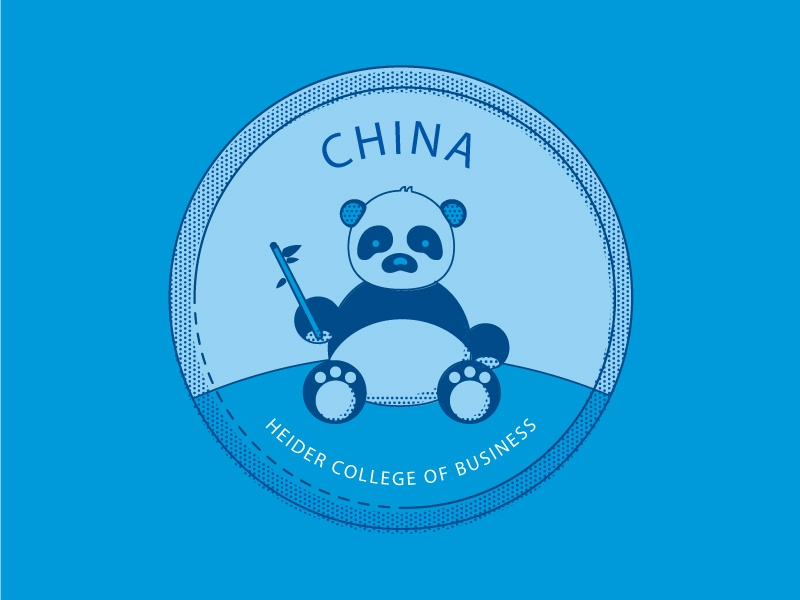 China Button panda bear college australia panda button illustration