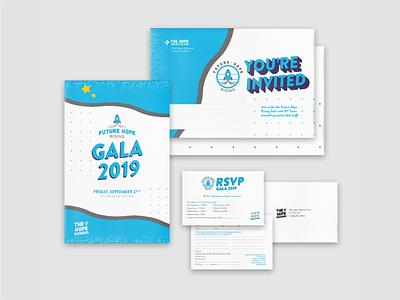 2019 Hope Center Gala Invitation design branding
