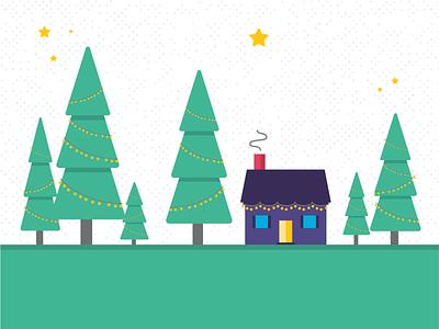 Hope Center Holiday Mailer Icons ui design branding illustration