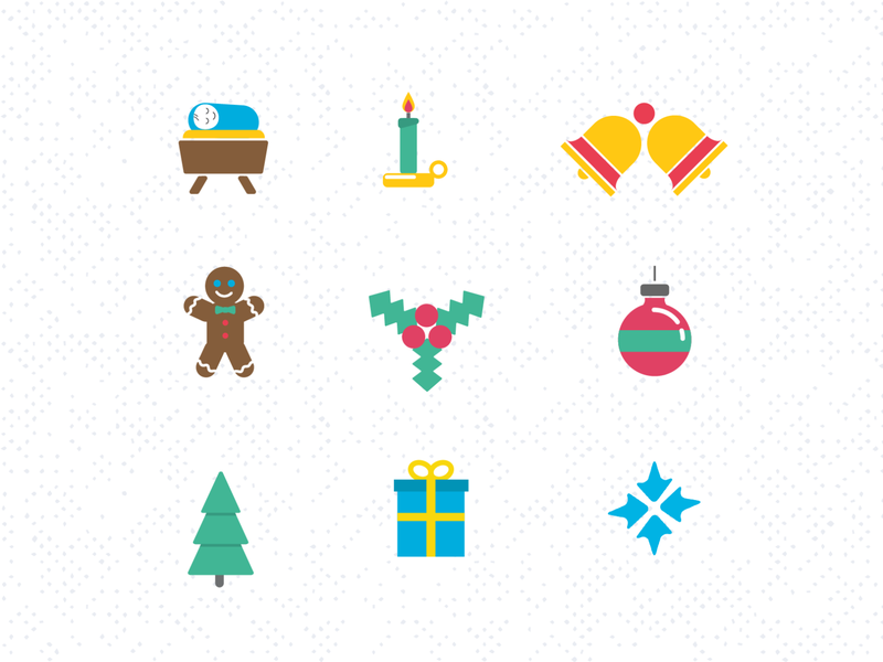 Hope Center Holiday Mailer Icons branding icon design icons design