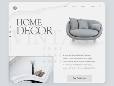 Home Decor concept designs concept clean xd adobe dribble dailyui furniture uiux ux vector branding logo ui webdesign digital digitaldesign graphic design minimal