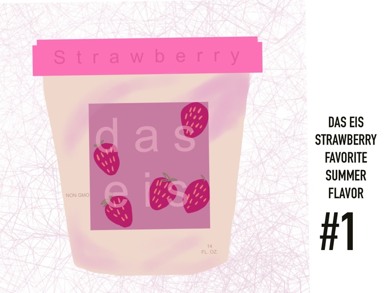 Strawberry Ice Cream Packaging advertising branding dribbble challenge digitalillustration art illustration dribbbleweeklywarmup