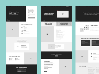 23 - Subshare - Wireframes Preview ux ui dailyui product design modern minimal website redesign redesign wireframes