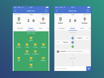 Betcrunch Redesign timeline application app sport football iphone ios mobile interface user ui betcrunch