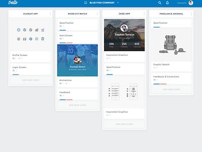 Trello Redesign Concept material redesign concept trello app dashboard board user interface ui