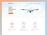 Landing Page drone clean flat home page landing web site website user interface ui