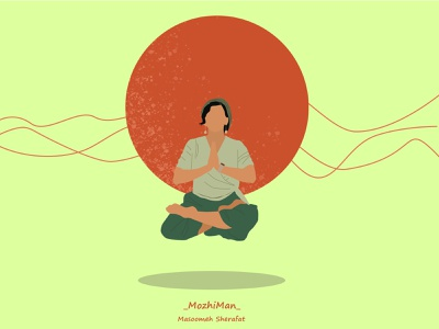 Yoga girl illustrstion adobe paint digital art digital illustration digital painting digitalart girl illustration yoga illustration yoga girl illustration photoshop