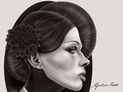 The Black Dahlia digital painting portrait photoshop the black dahlia murder hollywood