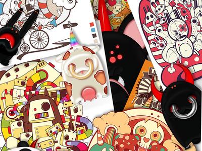 My Vector Creatures vector evil cute animal illustrator design characters cartoon colors
