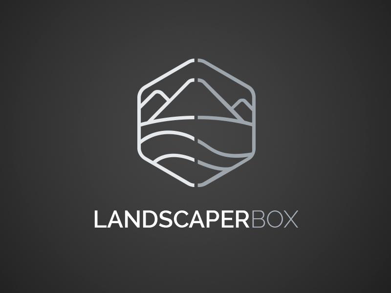 Landscaperbox Logo line logo landscape logo