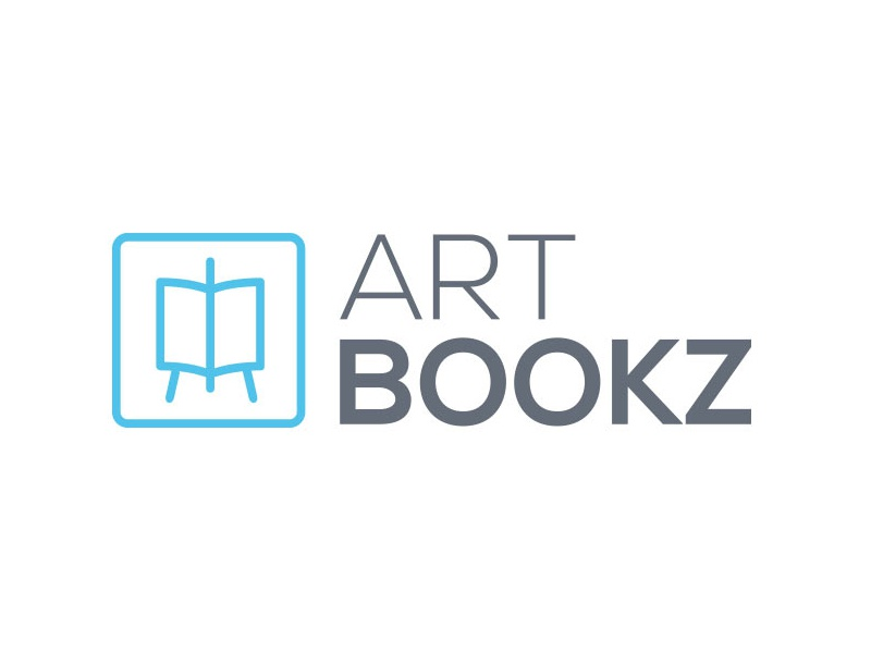 Art Bookz logo books art logo