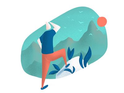 Mountains design nature procreate flatillustration webillustration illustration mountains