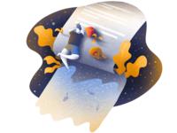 Illustration for text app