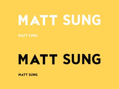 Logotype On Yellow typography logo
