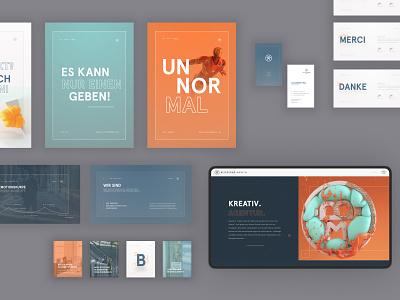 Blickfang Media: Rebranding print website brand poster stationery branding rebranding