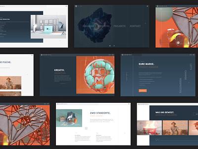 Blickfang Media: Webdesign animation brand identity branding ux ui webdesign website web